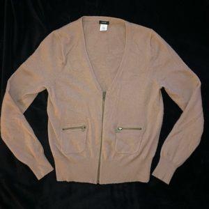 Dusty pink J Crew wool cashmere blend sweater.  L